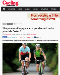 Cycling Weekly: The power of happy